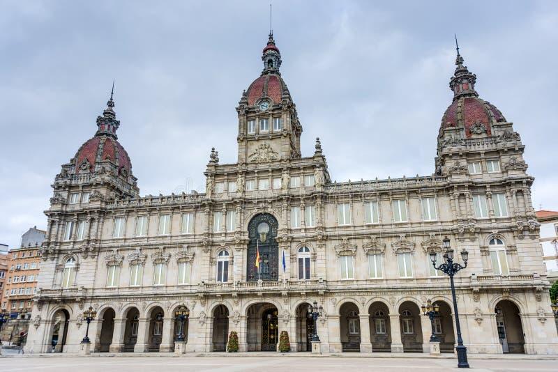 Hôtel de ville Coruna en Galicie, Espagne. photo libre de droits
