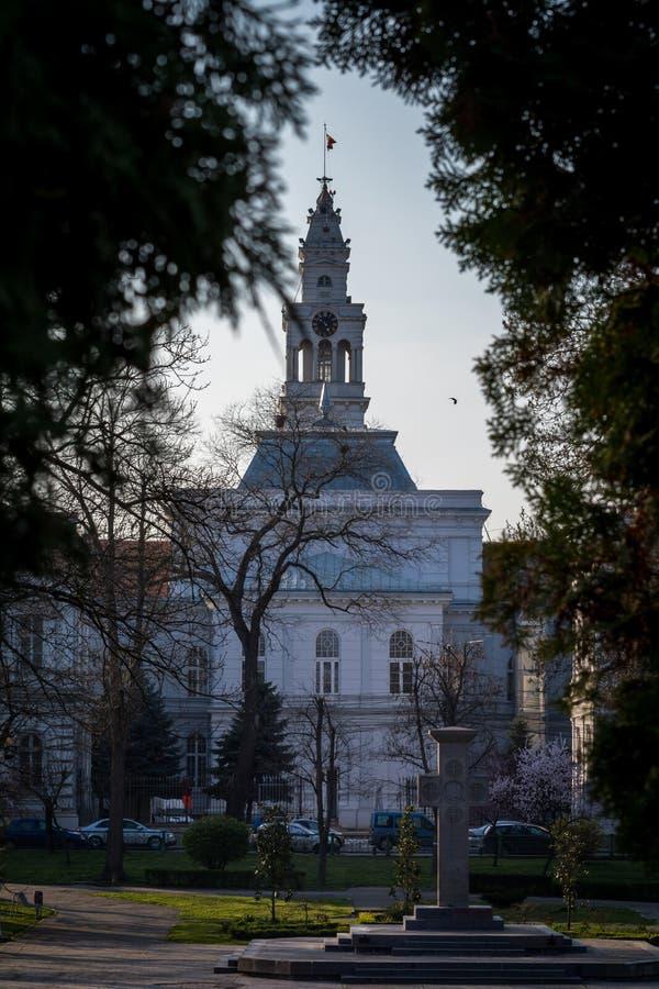 Hôtel de ville d'Arad image libre de droits