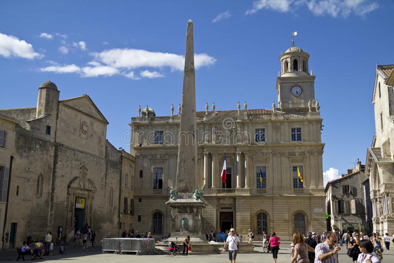 Hôtel de ville d'Arles, France photo stock