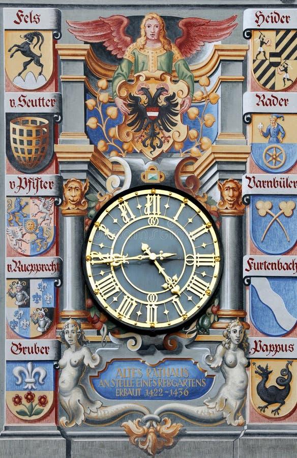 Hôtel de ville dans Lindau, détail photo libre de droits