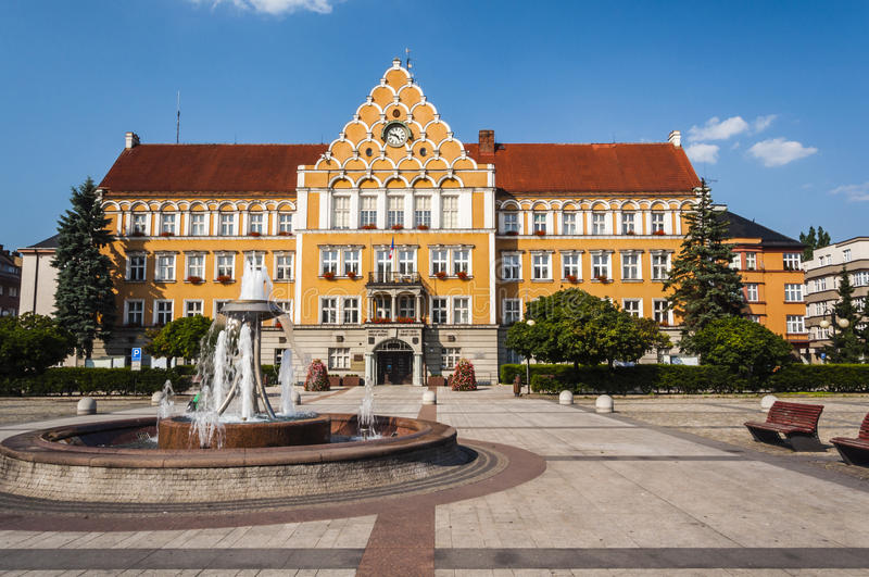 Hôtel de ville de Cesky Tesin photo stock