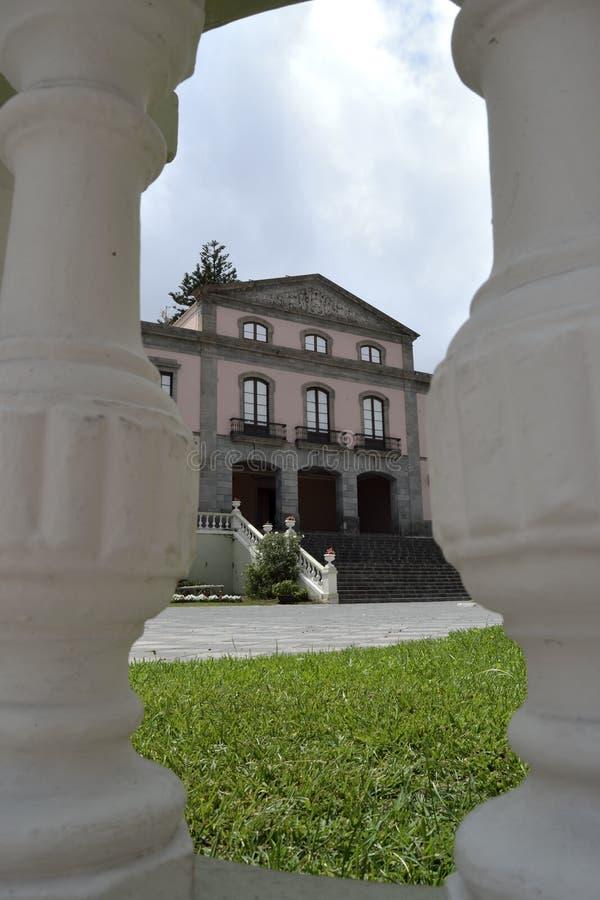 Hôtel de ville de La Orotava d'un point de vue original l'espagne images libres de droits