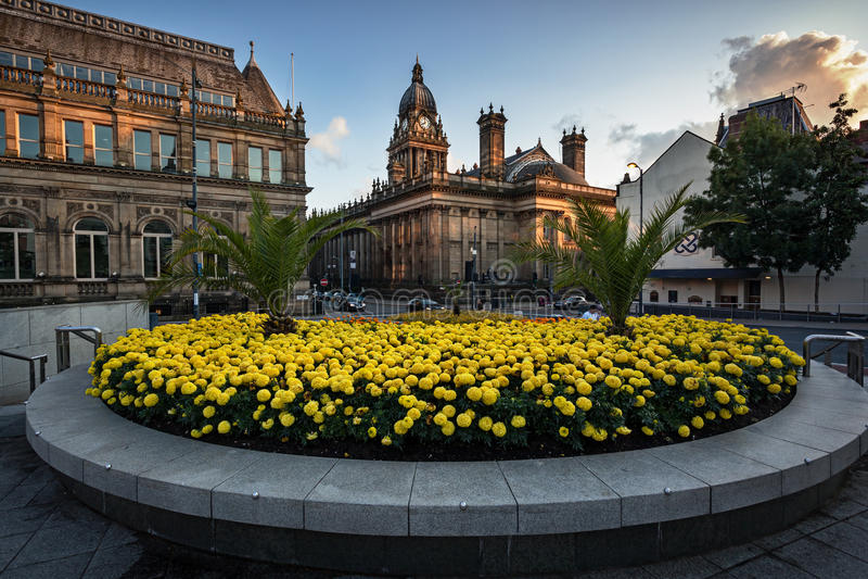 Hôtel de ville de Leeds image stock