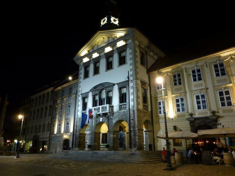 Hôtel de ville de Ljubljana photo libre de droits