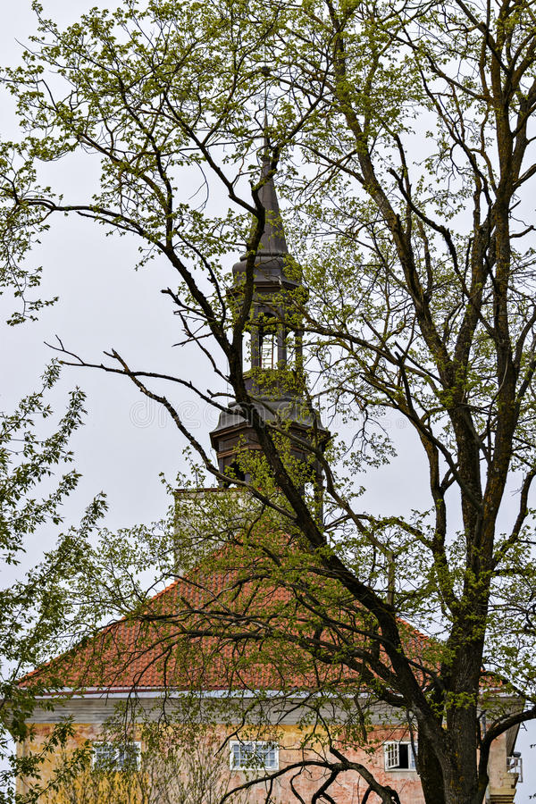 Hôtel de ville de Narva images stock