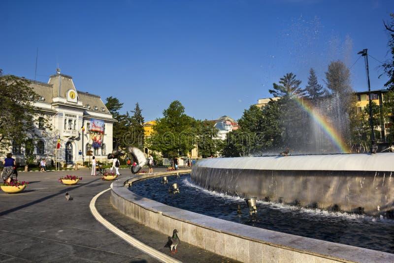 Hôtel de ville de Pitesti photo stock