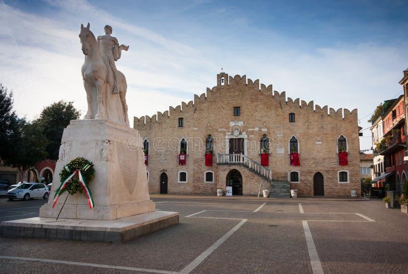 Hôtel de ville de Portogruaro photos stock