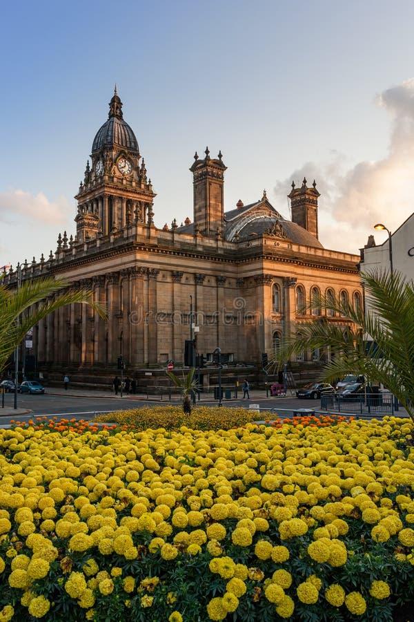 Hôtel de ville Leeds photos libres de droits