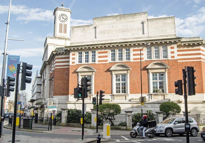 Hôtel de ville, Londres occidentale d'Acton photographie stock libre de droits
