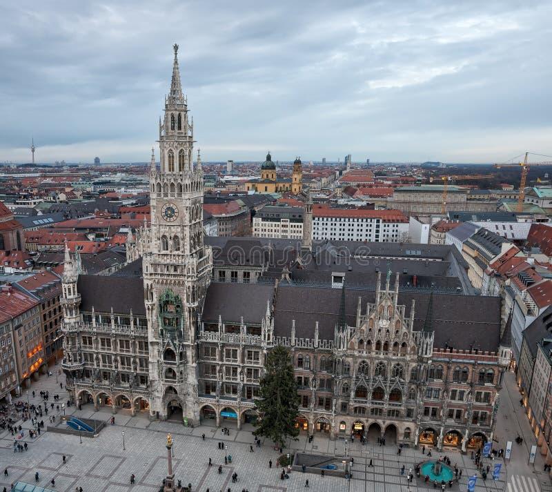Hôtel de ville neuf à Munich, Allemagne image stock