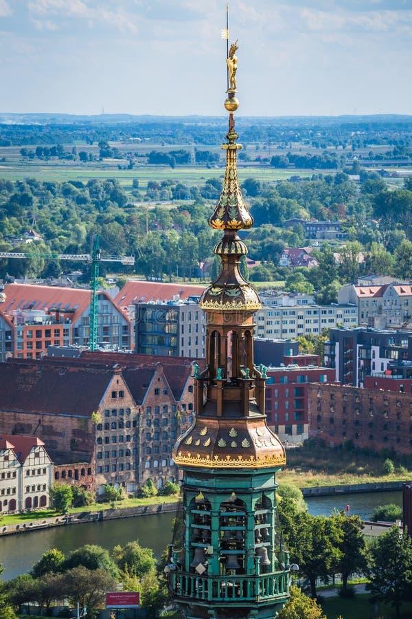 Hôtel de ville principal de Danzig, Pologne photos libres de droits