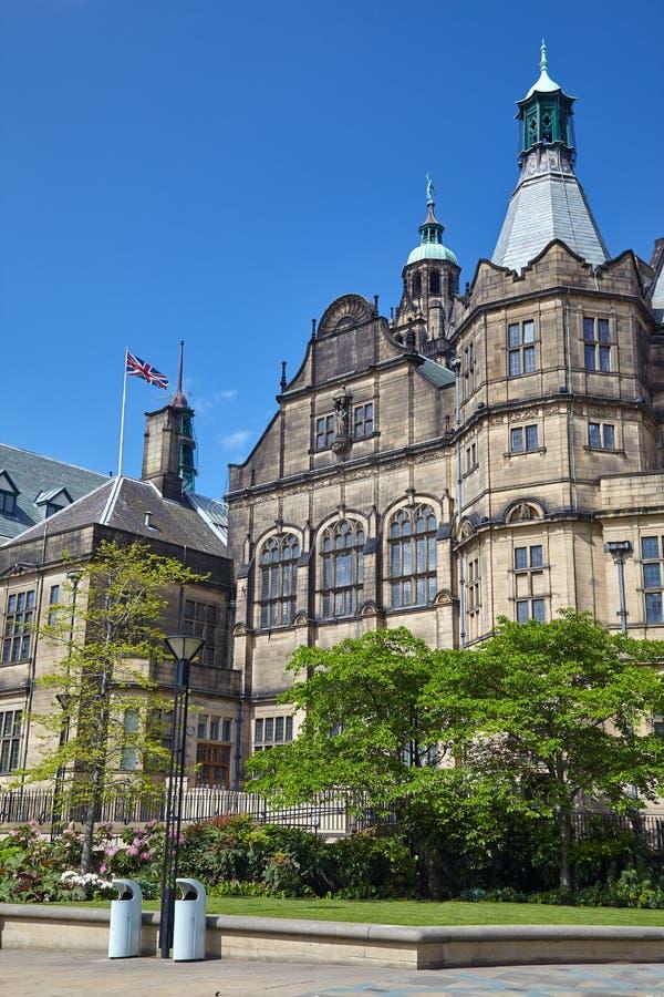 H?tel de ville de Sheffield sheffield l'angleterre images libres de droits