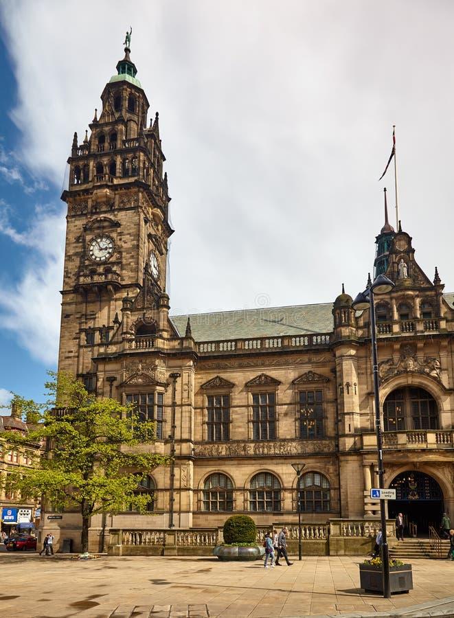 H?tel de ville de Sheffield sheffield l'angleterre photos stock