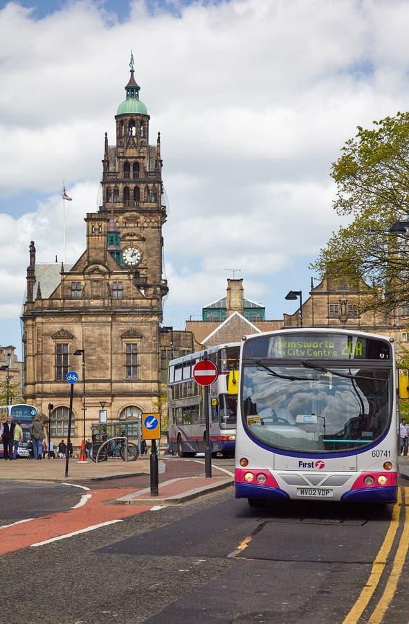 H?tel de ville de Sheffield sheffield l'angleterre photographie stock libre de droits