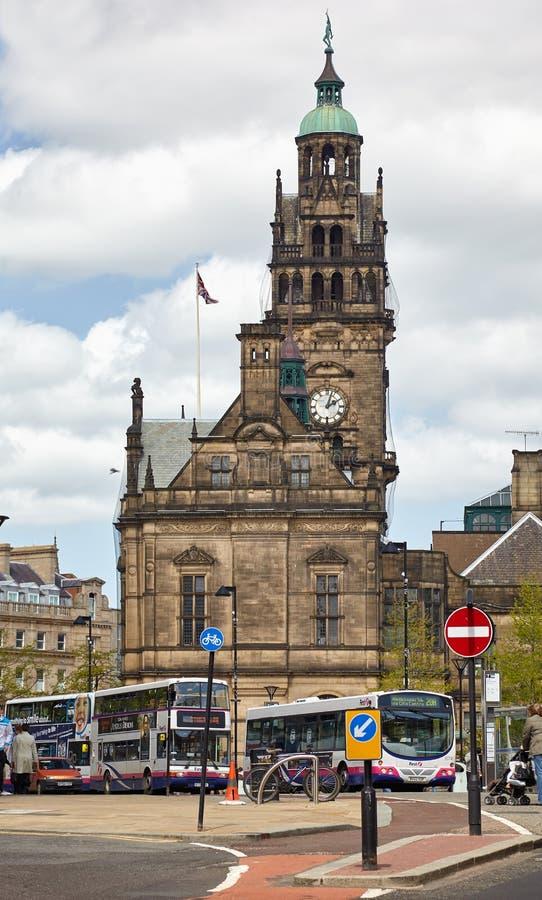 H?tel de ville de Sheffield sheffield l'angleterre photo libre de droits