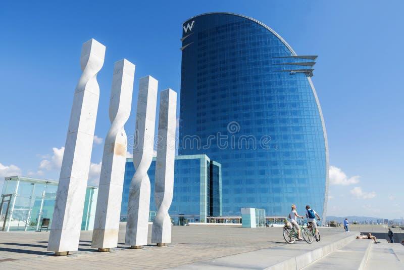 Hôtel de W Barcelone photographie stock