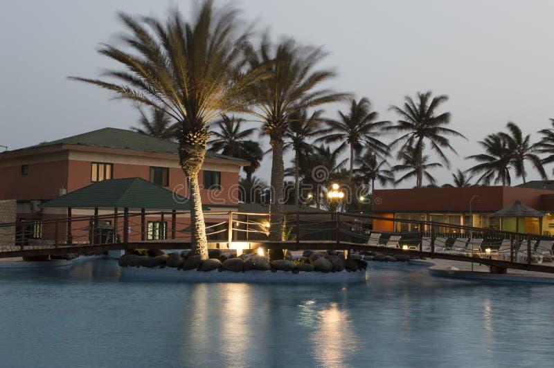 Hôtel en Santa Maria - le Cap Vert - l'Afrique photos libres de droits