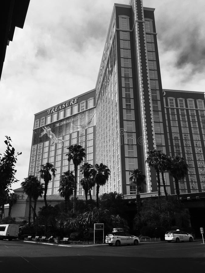 Hôtel et casino d'île de trésor à Las Vegas images libres de droits
