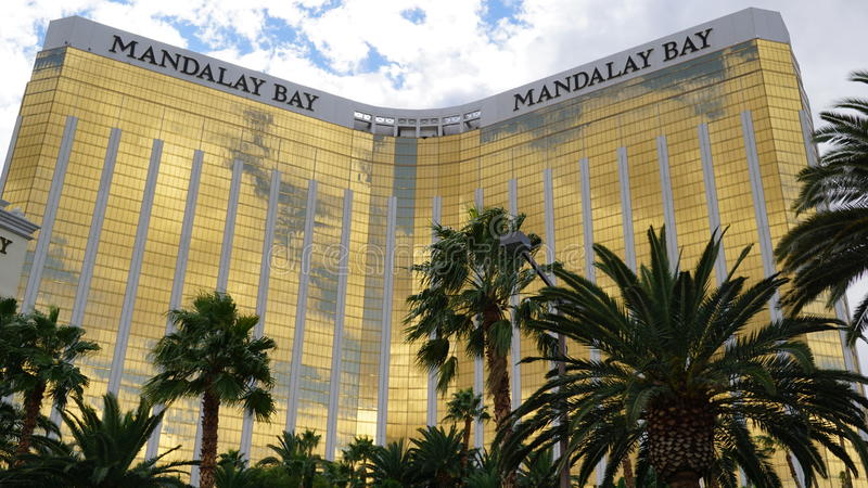 Hôtel et casino de baie de Mandalay à Las Vegas images stock