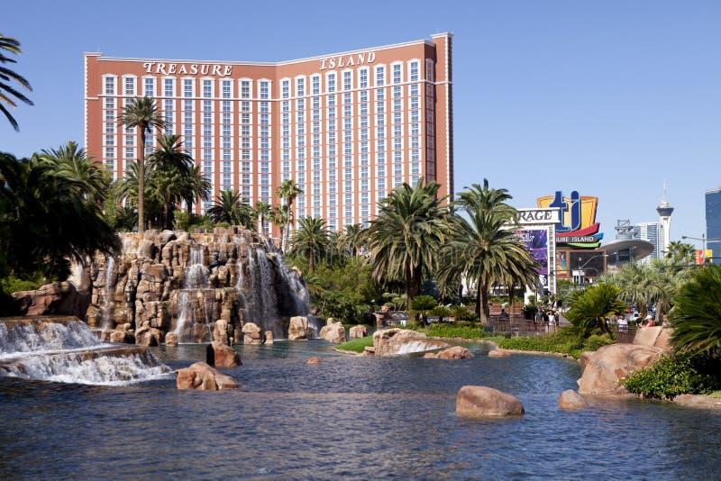 Hôtel et casino Las Vegas, Nevada d'île de trésor images stock