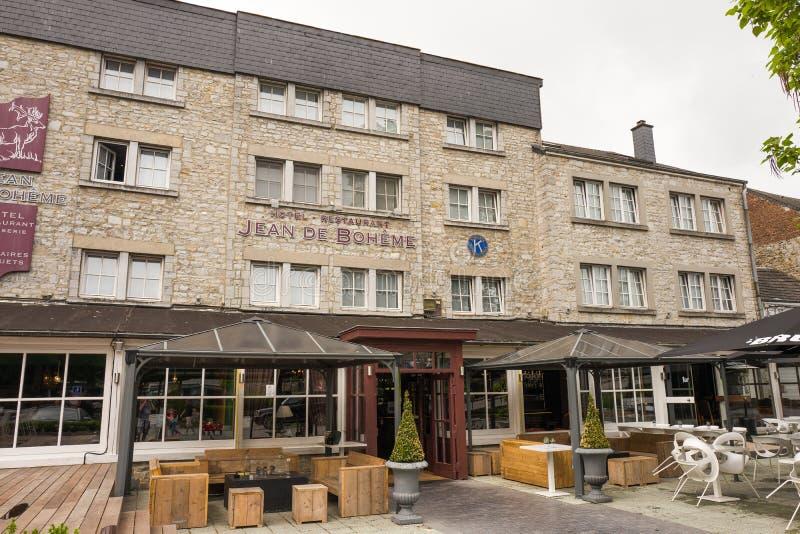 Hôtel Jean De Boheme dans Durbuy photographie stock libre de droits