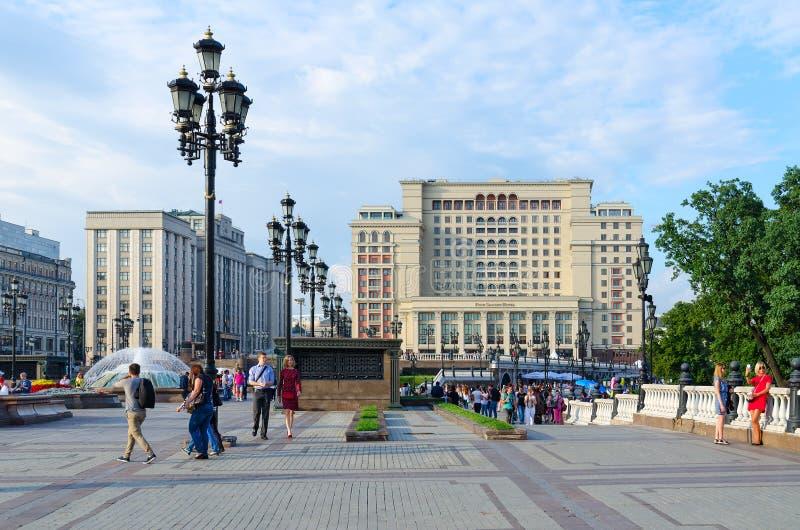 Hôtel Moscou 5 de quatre saisons * et douma d'état, Moscou, Russie photo stock