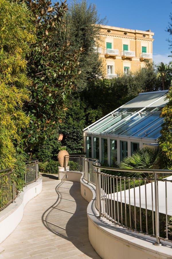 Hôtels historiques, Sorrente, Italie image libre de droits