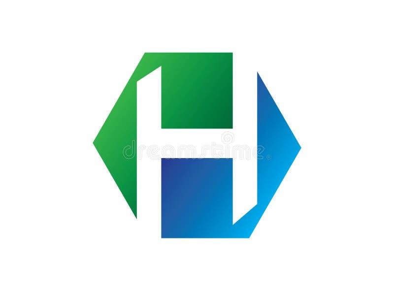 H van het foorembleem van het alfabetsymbool van de het ontwerpillustratie hexagon vector royalty-vrije illustratie