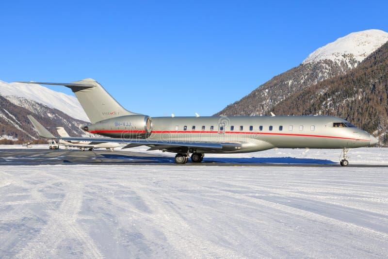 9h-VJJ - Bombardier Globale 6000 - VistaJet royalty-vrije stock foto