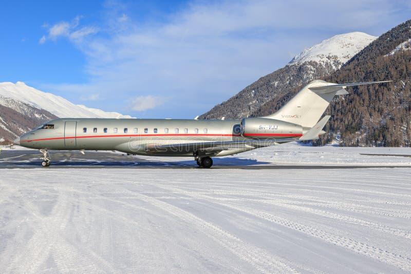 9h-VJJ - Bombardier Globale 6000 - VistaJet royalty-vrije stock fotografie