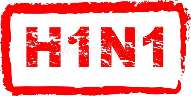 h1n1 ιός γραμματοσήμων διανυσματική απεικόνιση