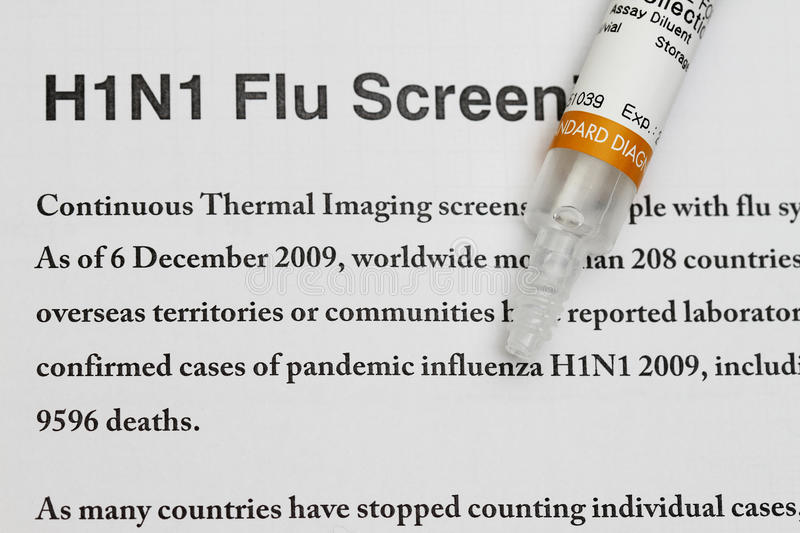H1N1 photo stock