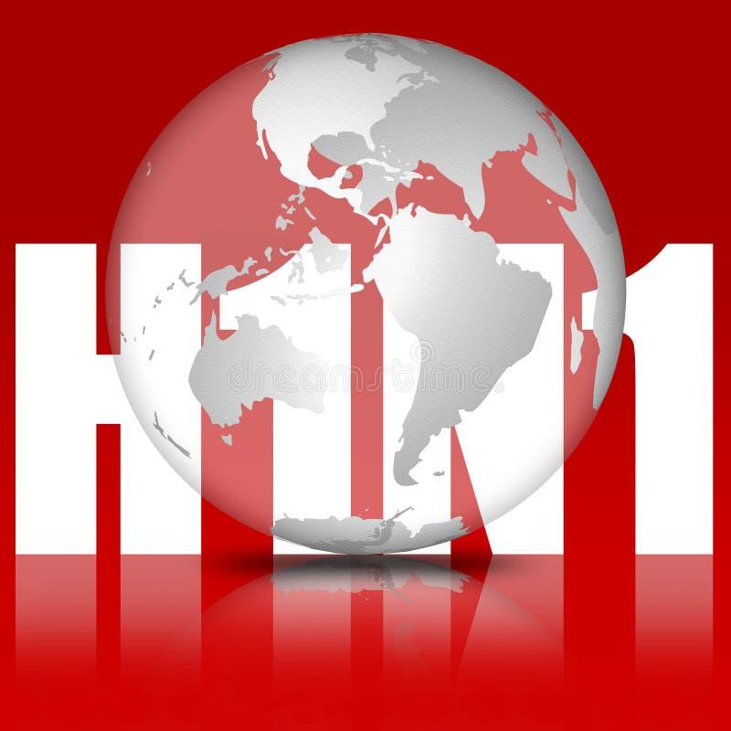 H1N1 - Gripe dos suínos ilustração royalty free