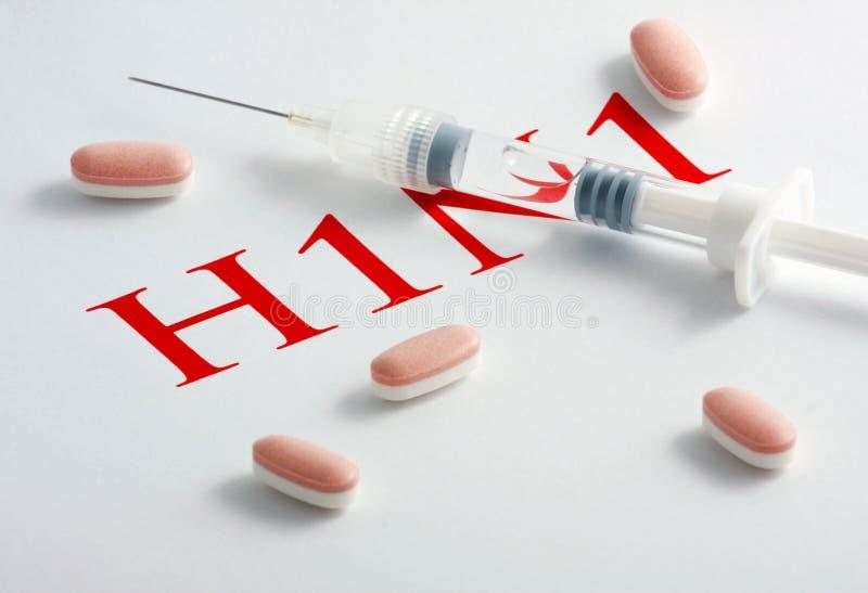 H1N1 het Virus van de griep royalty-vrije stock afbeelding