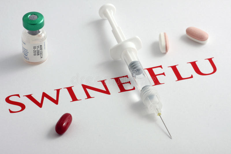 H1N1 Influenza Virus stock images