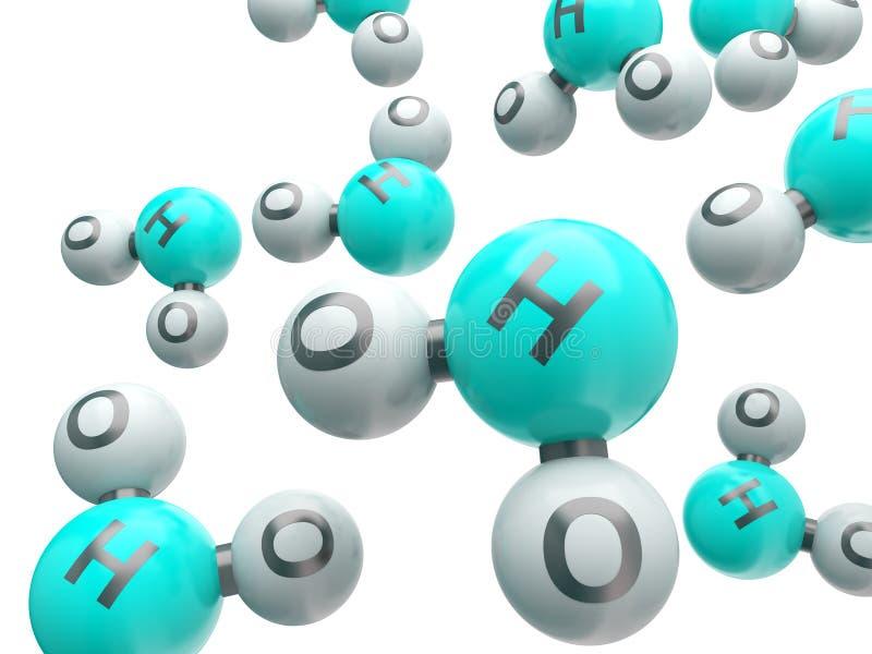 Download H20 απομονωμένα μόρια απεικόνιση αποθεμάτων. εικονογραφία από σύνδεση - 22792259