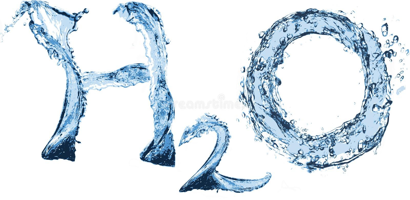 H2O illustration stock