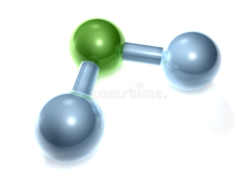 H2O - Agua stock de ilustración