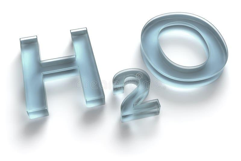 H2O/Formel des Wassers lizenzfreie abbildung