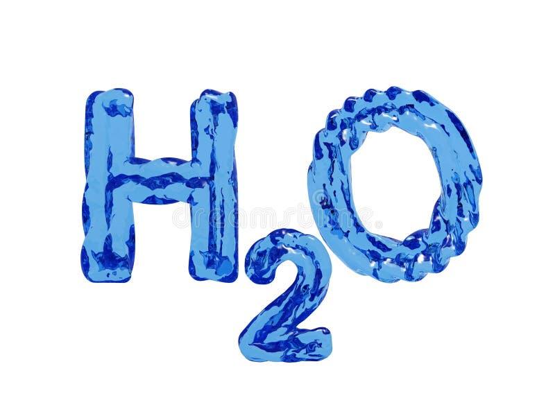 H2O waterbrieven vector illustratie