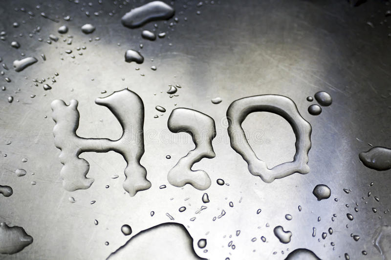 H2O Written With Water Royalty Free Stock Photo