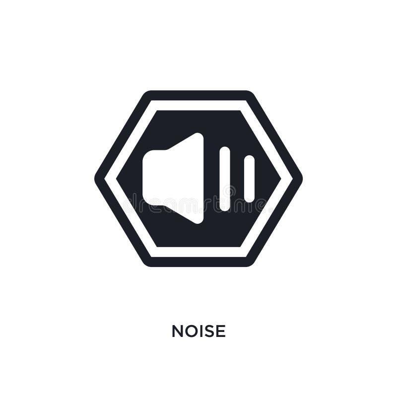 hałas odosobniona ikona prosta element ilustracja od znaka pojęcia ikon hałasu logo znaka symbolu editable projekt na bielu ilustracji