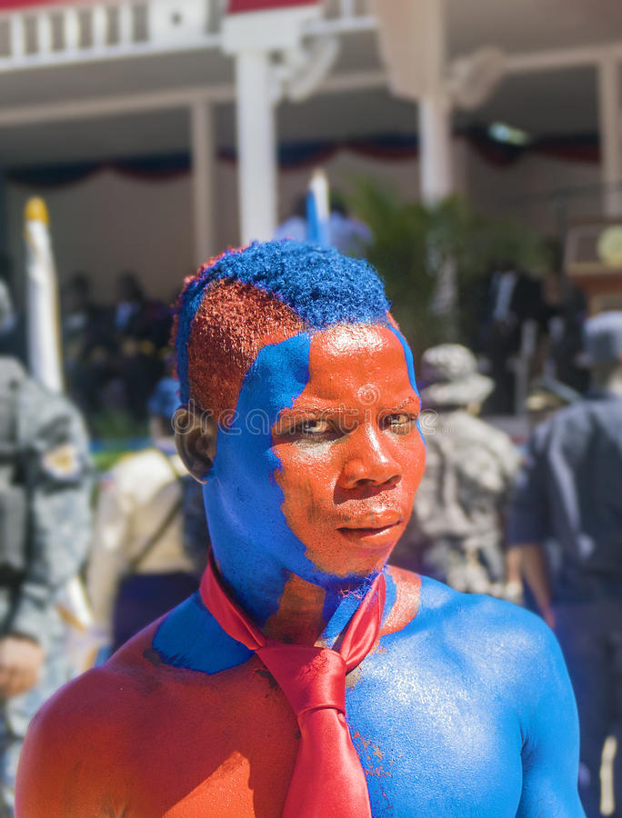 Haïti President Painted Supporter royalty-vrije stock foto