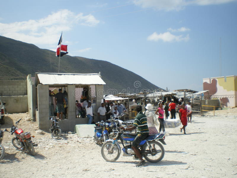Haïtiaanse grens royalty-vrije stock fotografie