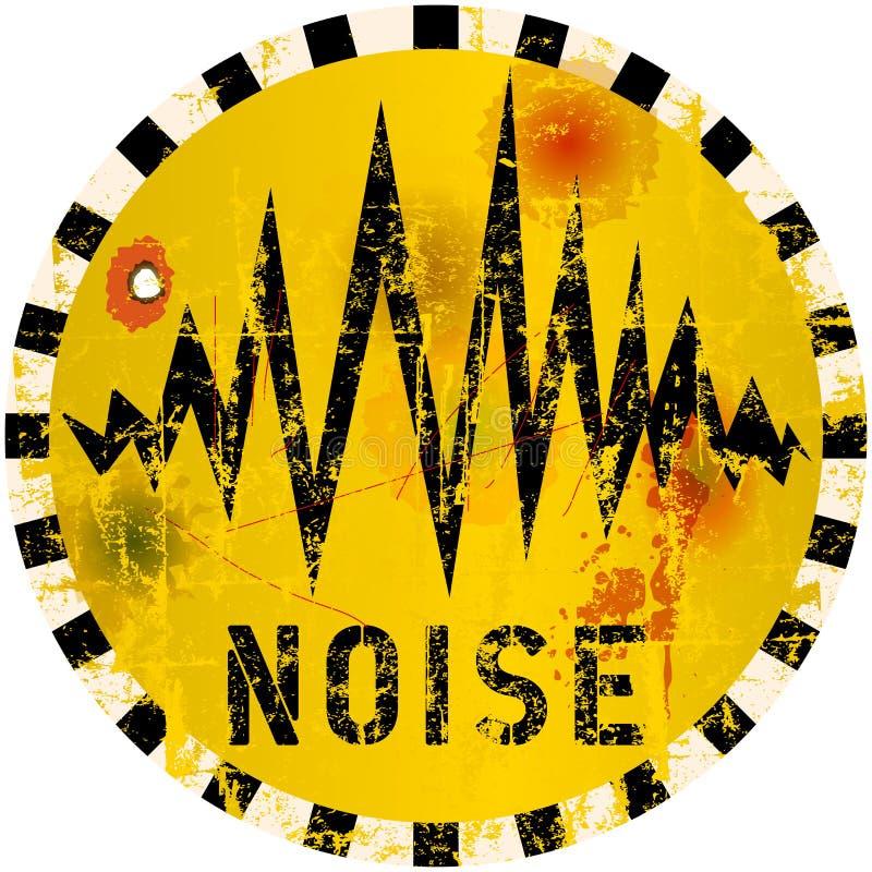 Hałasu znak ostrzegawczy ilustracji