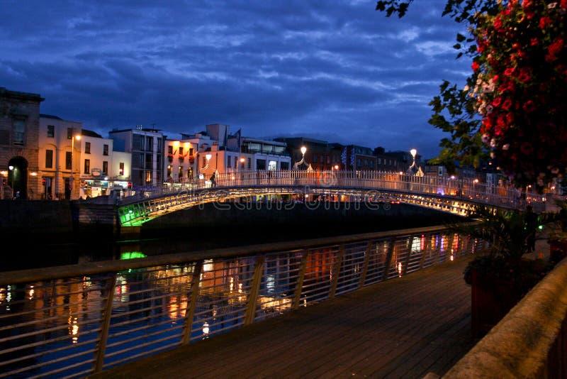 Ha `便士桥梁,都伯林,爱尔兰 免版税图库摄影