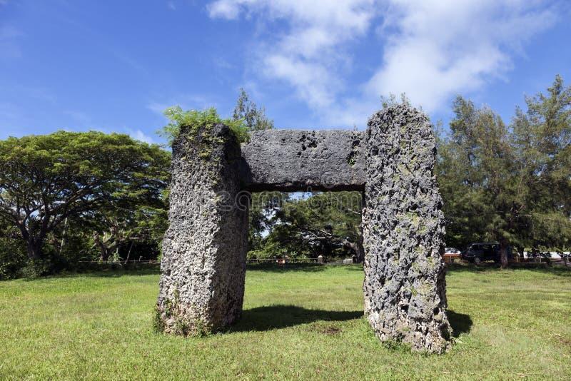 Ha'amonga een 'boog van Maui stock foto