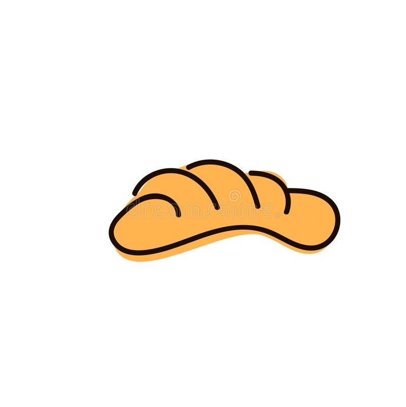 Ha cotto di recente i panini, isolati su fondo bianco illustrazione di stock