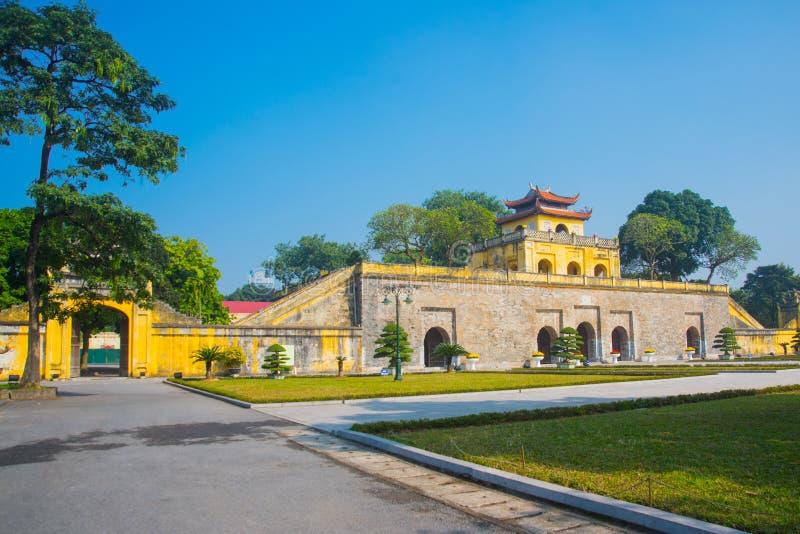HA DI NOI, VIETNAM Cittadella di Hanoi imperiale di Thang lungamente fotografia stock libera da diritti
