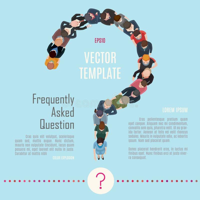 Ha en fråga royaltyfri illustrationer
